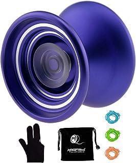 MAGICYOYO Responsive Aluminum Metal Yoyo K7 for Beginners with Glove+3 Strings (Purple)