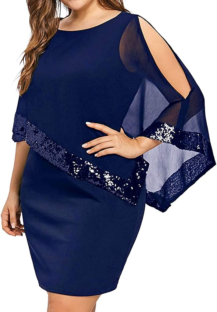 KYLEON Womens Plus Size Sexy Off Shoulder Strapless Cut Out Chiffon Mini Dress Summer Casual Fit Party Short Tunic Dress