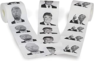 Novelty Place [3 Rolls] Donald Trump Toilet Paper 3 Different Pictures - 250 Sheets per Roll - Smile & Kiss, Funny Politic...