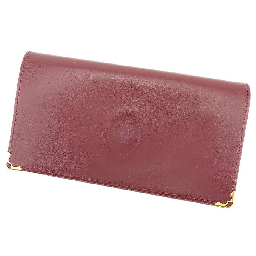 報奨金気になるビジョン(カルティエ) Cartier 長財布 がま口 レディース メンズ マストライン 中古 Q556