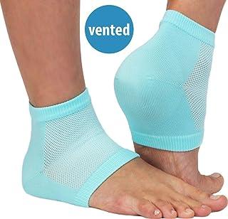 NatraCure Vented Moisturizing Gel Heel Sleeves (608-M CAT) - Size: Regular