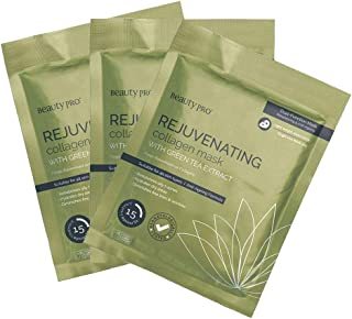 BeautyPro Trio Pack REJUVENATING Anti-Ageing Collagen Sheet Mask with Green Tea Extract (23g) X3
