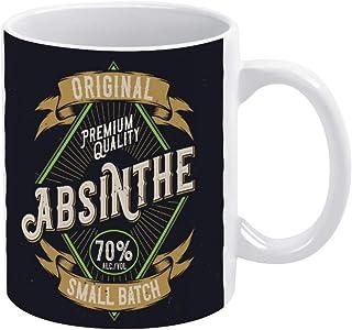 Original Absinthe Label Coffee Mug, Ceramic Mug Cup for Office and Home,Tea Milk,Birthday Gift For Her or Him,11oz