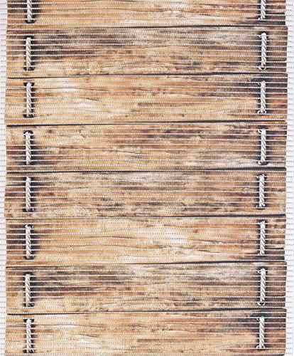 Badvorleger Aquamat Antirutsch Matte Bodenbelag, Bad Garten Küche, Holzbrücke, Größe wählbar (300x65 cm)