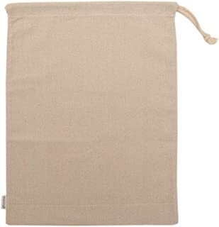 Augbunny Cotton/Linen Blend 14- by 17-1/2-inch Muslin Produce Bags with Drawstring, 6-Pack