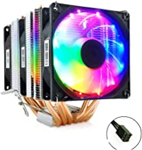 SMOEE CPU Fan Radiator Bright and Quiet 6 Copper Tube 6 Fan 3Pin Interface Compatible with Intel AMD Dual Platform