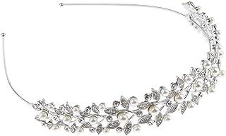 Generic Fita de Cabelo Feminina Elegante Tiara de Cristal com Strass Acessórios de Cabelo