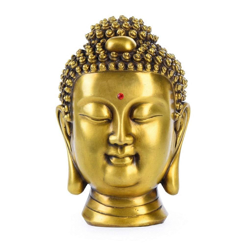 DECORA Estatua de la Cabeza de Buda,Jardín Zen en el Buda, Busto de Buda de Cobre Puro para jardín,Patio,Decoración de Interiores,Artículos de colección Decorativos,Manualidades de Feng Shui: Amazon.es: Jardín
