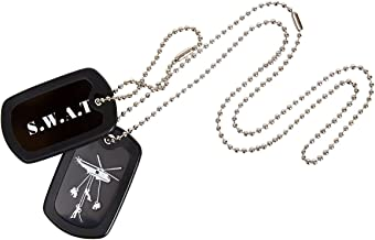KAS 1123 Kids SWAT Dog Tags Stainless Steel with Chain - Police S.W.A.T Roleplay