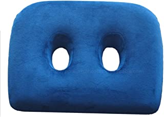 ZXWCYJ Memory Foam Sit Bone Relief Cushion, Relieve Sciatica Back Tailbone Pain, with Two Holes for Sitting Bones-Washable & Breathable Cover