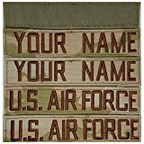 HERALDRY APPROVED REGULATION MULTICAM OCP Custom Name and US Air Force Tape with Velcro 4 Piece Set