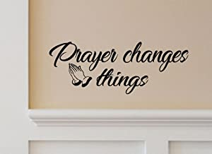 BERRYZILLA Prayer Changes Things Decal Motivational Inspirational Quote Wall Sticker Decoration Decor