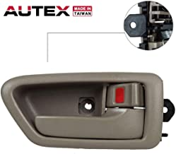 AUTEX Interior Front/Rear Right Passenger Side Compatible with Toyota Camry 1997 1998 1999 2000 2001 Door Handle 91005, 91008 69278-33020-E0, 6927833020E0