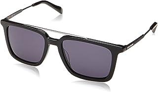 نظارة شمسية من هوغو بوس للنساء بتصميم مربع، طراز BO 0305/S-80752IR، مقاس 52-18-140 ملم