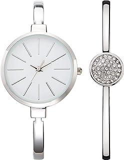 Nuovo, orologio da donna 3ATM impermeabile al quarzo, con ampio display analogico e cinturino in lega di diamanti brillanti