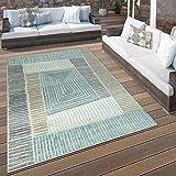 Paco Home In- & Outdoor Terrassen Teppich Geometrisches Design Pastell Braun Beige Grau,...