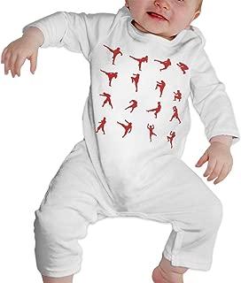 Dee O.STORE Toddler Baby Girls Boys Romper Jumpsuit Bodysuit Muay Thai Organic Cotton Pajamas Sleeper