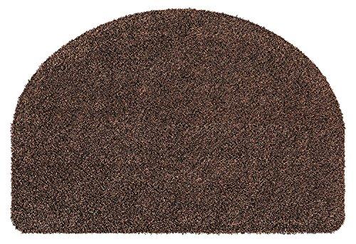 andiamo Fußmatte Samson, waschbare & resistente Türmatte aus 100% Baumwolle, Farbe:Anthrazit, Größe:50 x 75 cm Halbrund