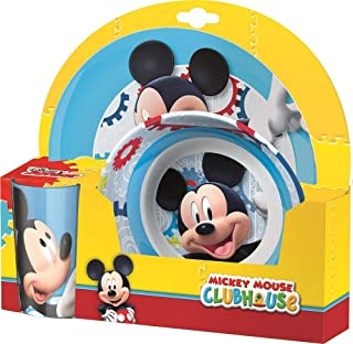 BBS Ultimate Mickey Mouse – Crockery Set, 3 Pieces, Multicolour