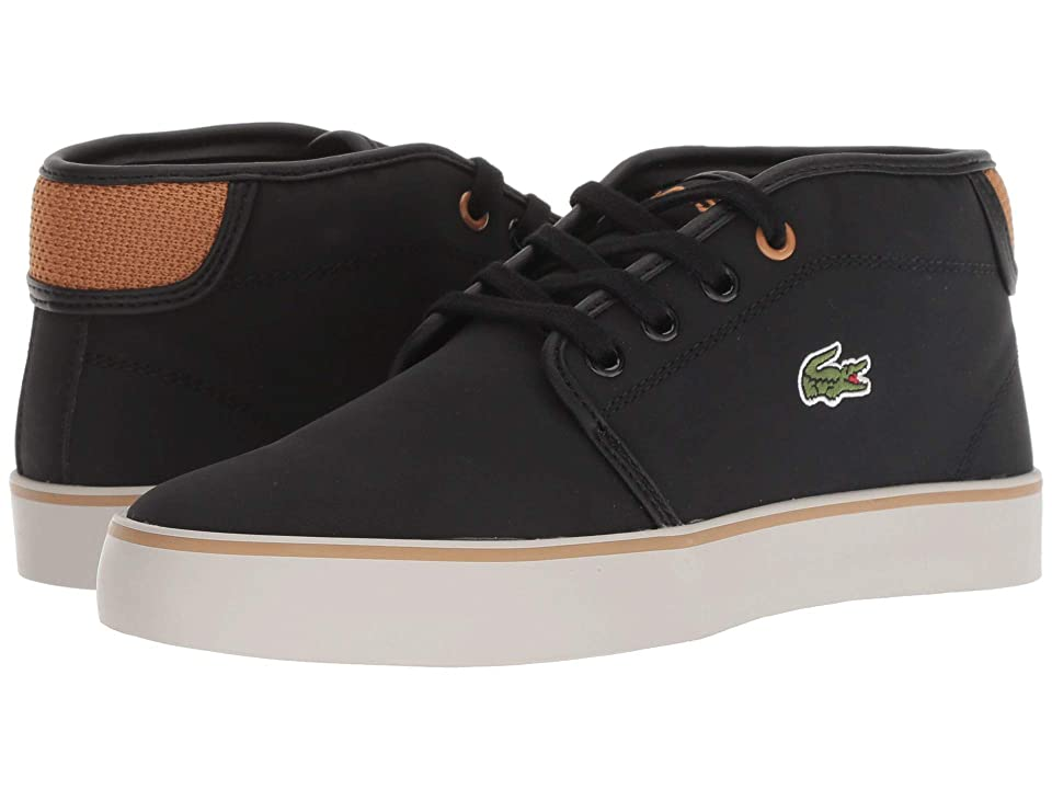 Lacoste Kids Ampthill 318 (Little Kid/Big Kid) (Black/Dark Tan) Kid