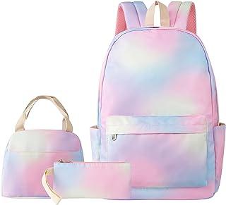 حقيبة ظهر تيسوتوس للفتيات المراهقات مجموعة من حقائب الكتب المدرسية مع صندوق غداء وحقيبة أقلام