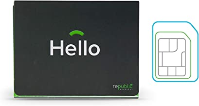 Republic Wireless Prepaid 3-in-1 SIM Card Includes- 1 Month of Unlimited Minutes, Unlimited Texts, and 5GB of Data, Plans Start at $15 Per Month 4G LTE network covering 99% of US- Includes SIM TOOLKIT