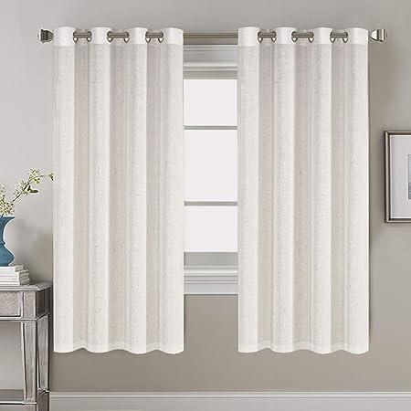 Custom size Natural Linen Window Drapes for Livingroom Bedroom Kitchen Linen window or door panels Mustard Long Linen Curtains