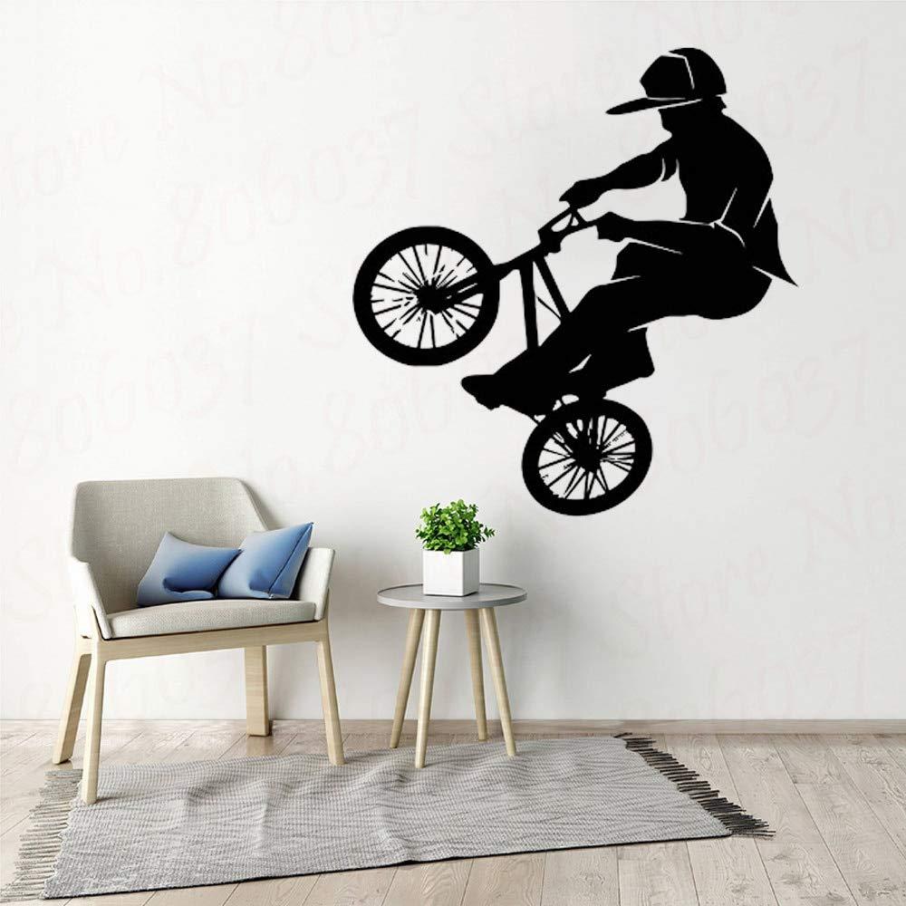 yaofale Vinilo de Moda PVC Pared calcomanía Bicicleta Bicicleta BMX Deporte Supremo Pared Art Deco Familia Sala de Estar decoración: Amazon.es: Hogar