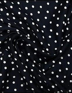 Polka Dots Fabric (Bobby Print) Black & White/Red & White