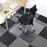 FRUITEAM Office Chair Mat for Carpet, Carpet-Protector Chair mat, Rectangular Transparent Carpet Floor Mat for Carpet, 86 x 109 cm/34 x 43 inches