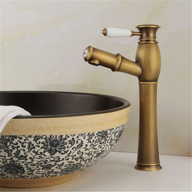 MIAORUI Antique all Copper drawing basin basin faucet European basin basin hand basin hot and cold water mixing faucet,高款