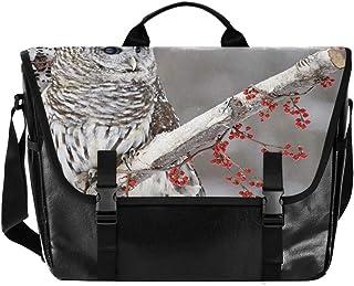 Bolsa de lona para hombre y mujer, diseño de búho, estilo retro, para el hombro, ideal para iPad, Kindle, Samsung