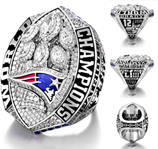 Crystal 1st Store Mens 2018-2019 Patriots Championship Rings Superbowl LIII Rings Size 8-14 (Size 14)