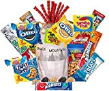 Epic Care Package Gift Bag with Cookies, Granola Bars, Peanuts, Candies, Gum, Fruit Snacks, Snacking Variety Mix By Snack Mountain