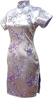 فستان سهرة صيني قصير من 7Fairy VTG للسيدات من Cheongsam