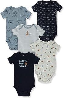 Carter's Baby Boys 5-Pack Original Short Sleeve Bodysuits (Daddys Best Friend) (Newborn)