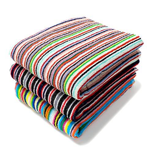 TANGONO [ 色柄おまかせ ] 今治 残糸で作ったエコなタオルセット 吸水 速乾 日本製 (バスタオル3枚組)