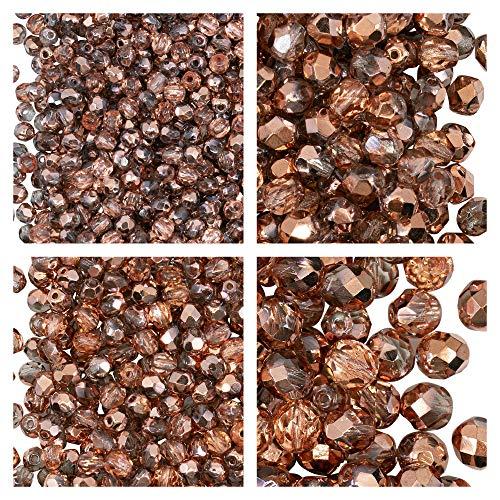 Perlas 3mm  marca Fire-polished Beads