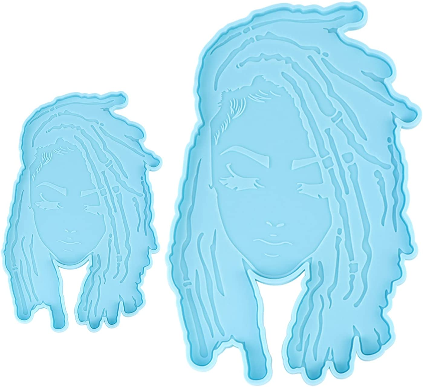 Dread Girl Coaster Resin Mold Female Molds Type Cup fo Mat 5% trend rank OFF Head