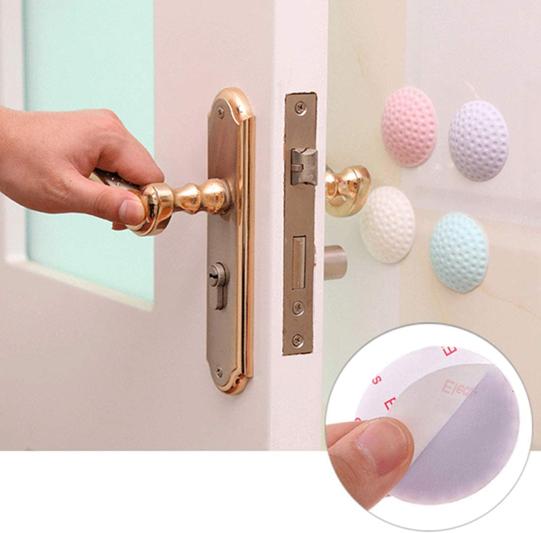 Surrui 2 PCS Door Stoppers Rubber Wall Protectors Safe Handle Bumper Guard Beauty Home Decor Pink 2 PCS