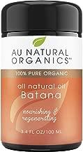 Au Natural Premium Organics Batana Oil 3.4oz / 100ml - Revitalizing Hair Care Natural Oil - Face &Body Skin Moisturizer - Thickens Hair & Repairs Split Ends