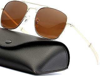 Mens Aviator Sunglasses 55mm Polarized Pilot Military...