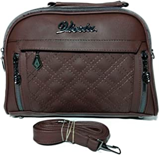 فيكريا حقيبة للنساء-بني - حقائب طويلة تمر بالجسم