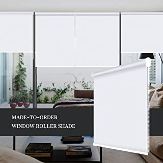 ZY Blinds Blackout Roller Shades Custom Made Any Size from 20-78inch Wide UV Protection Enery Saving Block 100% Light Window Shades Blinds for Home, Hotel, Club, Restaurant 40