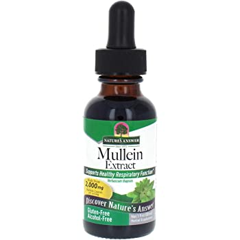 Nature's Answer Mullein Leaf | Herbal Supplement | Supports Healthy Respiratory Function & Healthy Mucous Membranes | Non-GMO & Kosher | Gluten-Free & Alcohol-Free 1oz