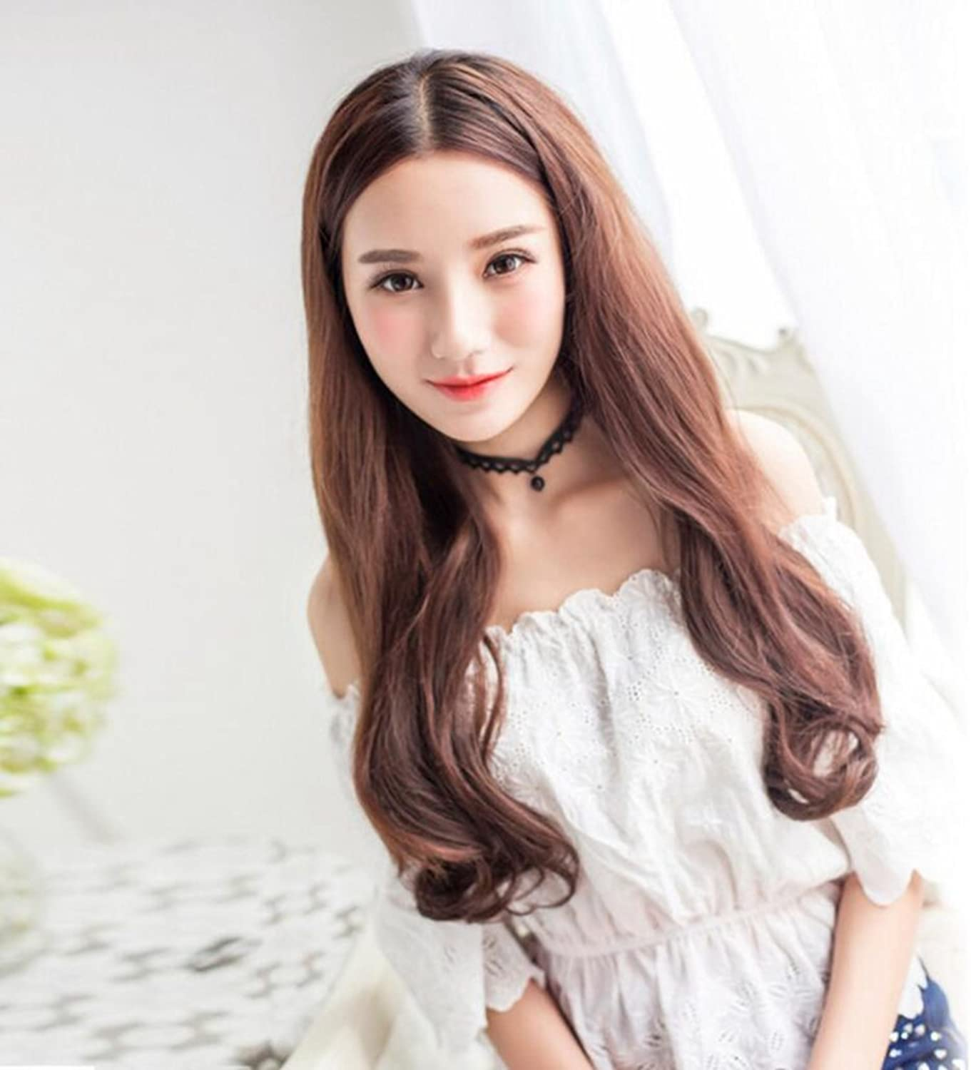 Longless In the long hair wigs wigs large wave wigs piece of curly hair piece wig female high temperature silk hair