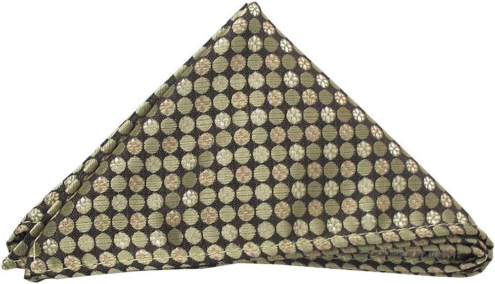 Jacob Alexander Classic Pattern Pocket Square Handkerchief - Olive