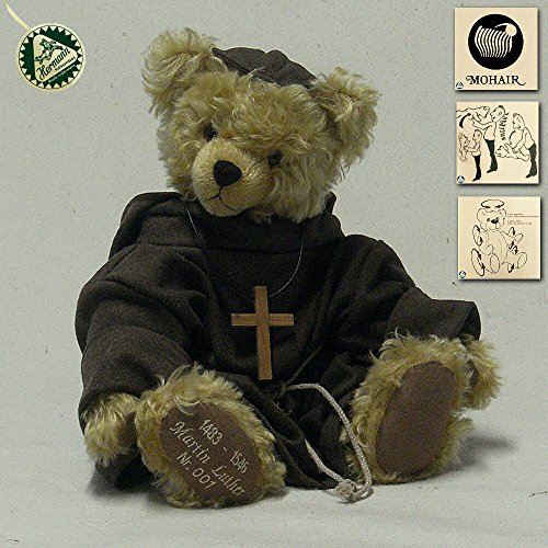 Hermann Coburg 19050-7 Martin Luther, Mohairplüsch Teddy 40 cm - Limitiert 1000 Stück