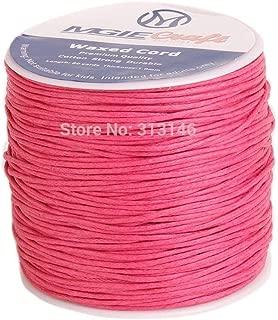 Cordon Coton Ciré 0,8mm 5 Mètres Rose pour Colliers et Bracelets de perles