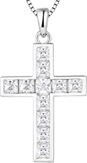 Sponsored Ad - YL Cross Necklace Sterling Silver Criss Pendant Gemstones Crucifix Jewelry for Women